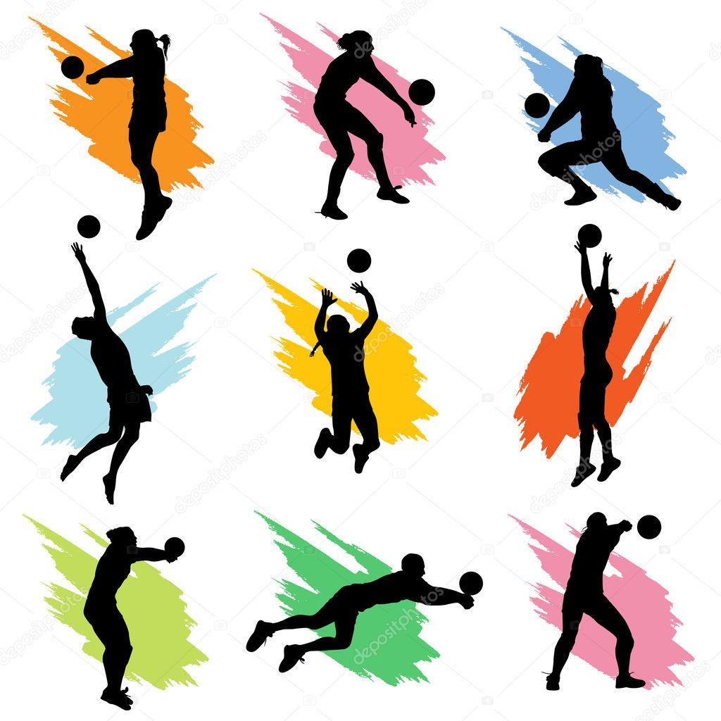 volleyball set stock vector bogalo 10851518 rh depositphotos com