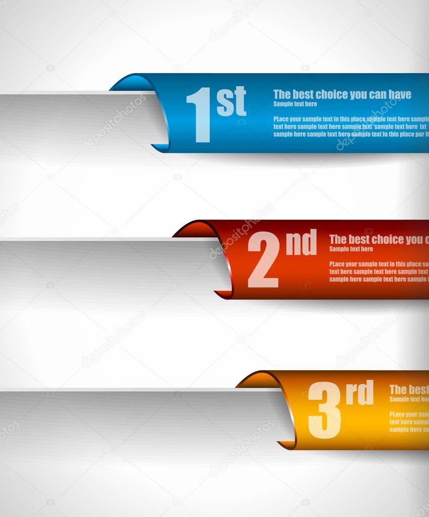 Papier-Stil, die Markierungen zu einer Einstufung Klassifizierung ...