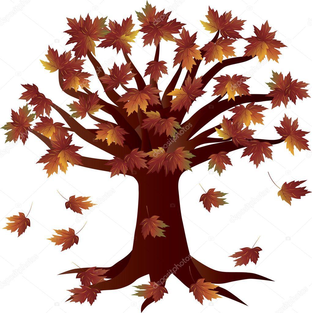 Güz Sezon Sonbahar Ağaç çizimi Stok Vektör Jpldesigns 10871871