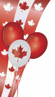 Happy Canada Day Balloons Illustration