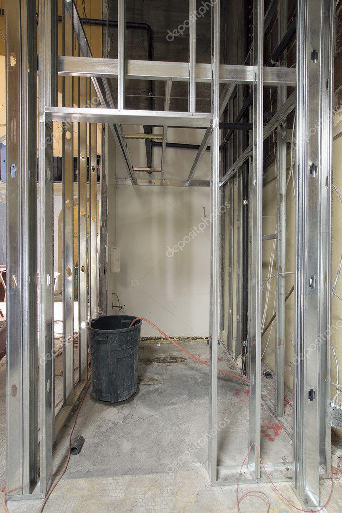 postes metálicos en construcción — Foto de stock © jpldesigns #11315989