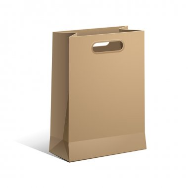 Carrier Paper Bag Brown Empty Vector EPS 10