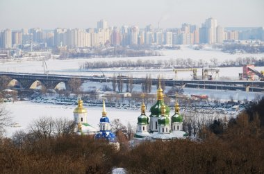 Winter view of Kiev