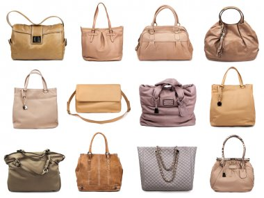 Set of beige female bags-2
