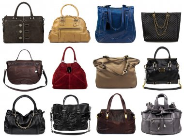 Set of multicolored female bags-3