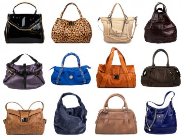 Set of multicolored female bags-6