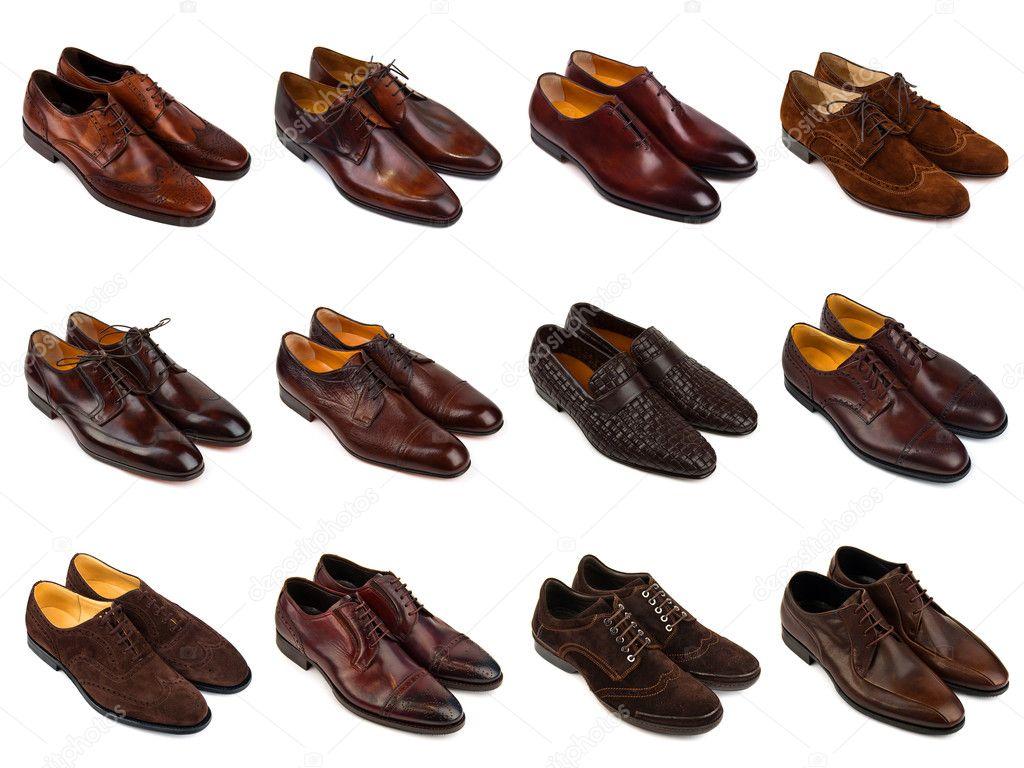 7a7b3cc27e9e7d Набір коричневий чоловічого взуття на шматки білий background.12 — Фото від  MaleWitch