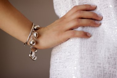 Bracelet jewelry on woman's arm