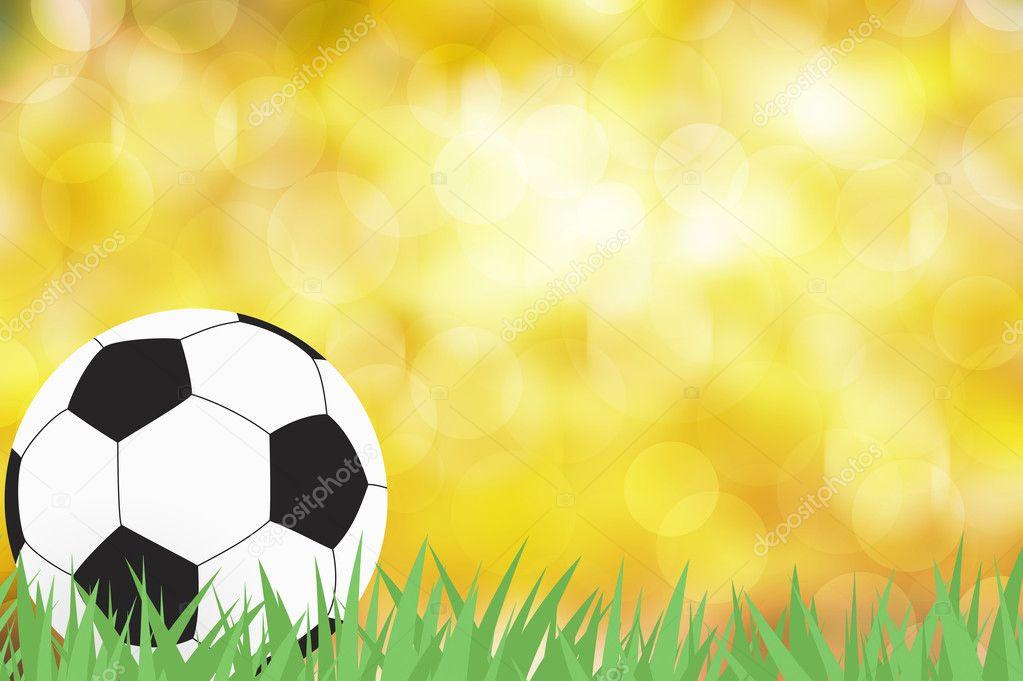 fútbol con hierba verde sobre fondo abstracto de color — Fotos de ...