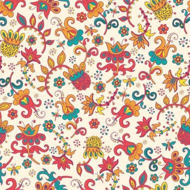 Fantasy floral seamless pattern