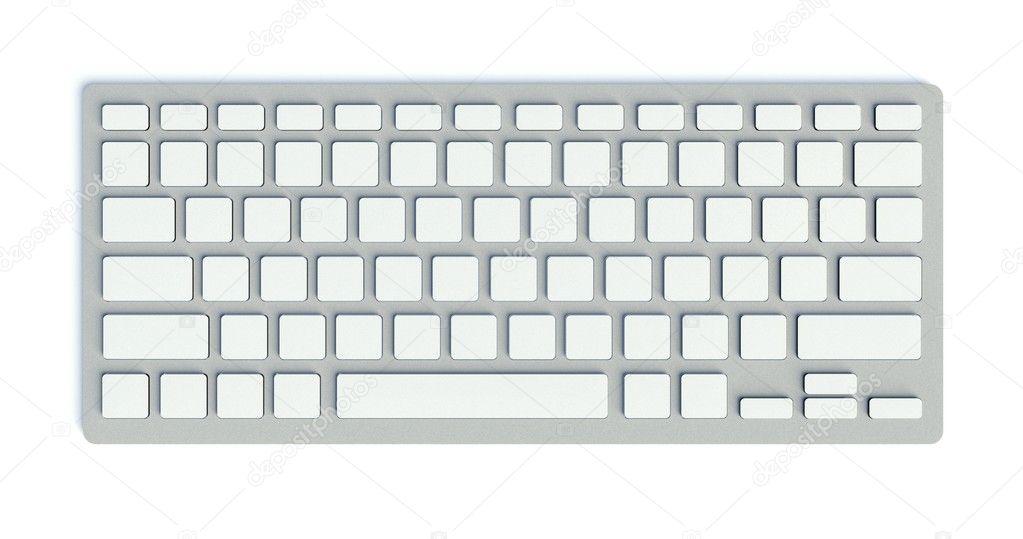 Botones blancos en blanco en el teclado de la computadora - Foto teclado ordenador ...