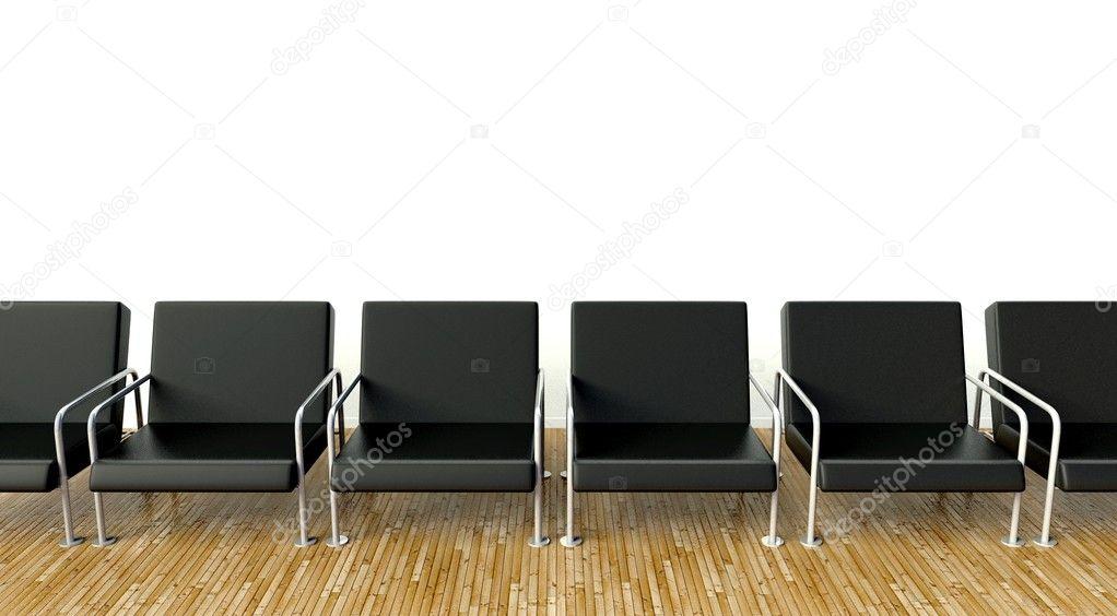 Interior do escrit rio com poltronas na sala de espera na - Sillones sala de espera ...