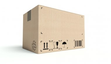 Empty cardboard box isolated on white