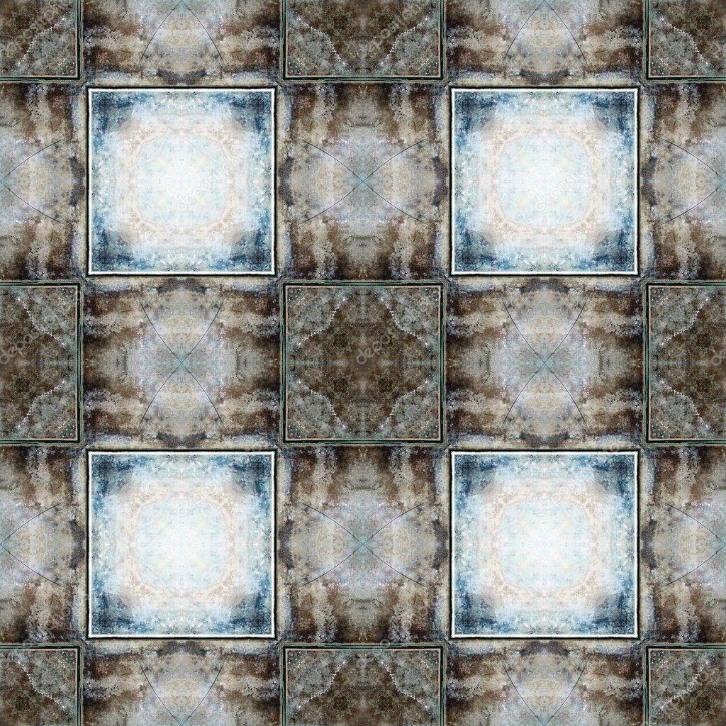 nahtlose Keramik Muster, im Alter von Bodenfliesen — Stockfoto ...