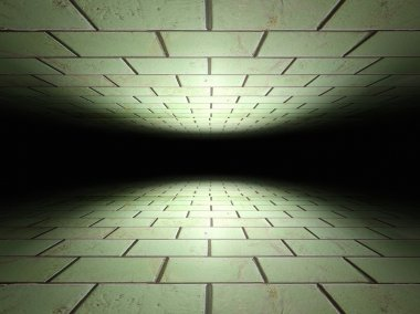 Floor and ceiling made of tiles background texture