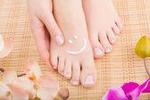 Beautiful manicured feet
