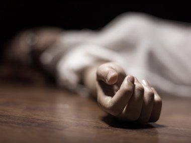 Dead woman's body