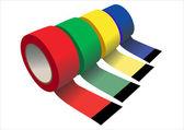 vektorové sada lepící lepící pásky