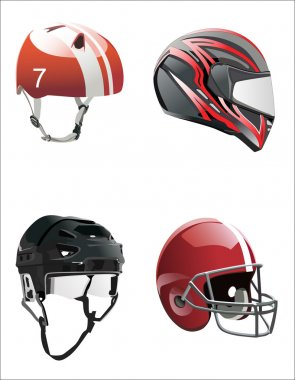 Set helmets stock vector