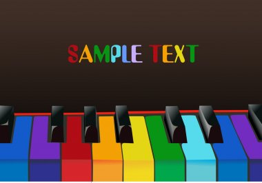 Multicolored piano keys