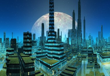 Fictional City Skyline