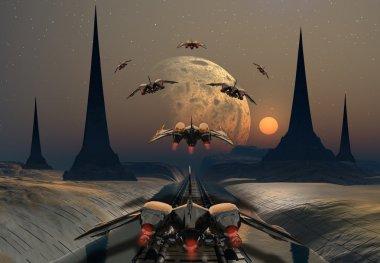 Alien Planet Between Stars