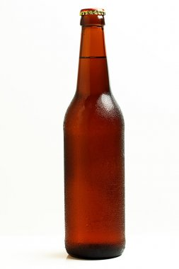 Chilled bottle of beer.