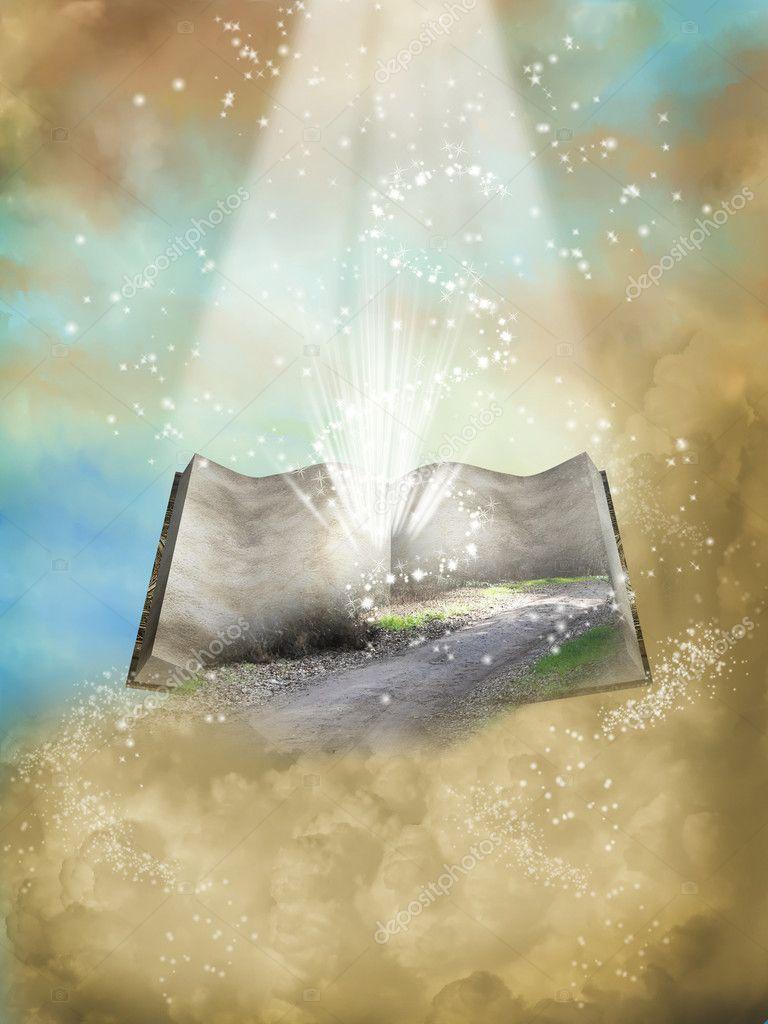 Fantasy open book