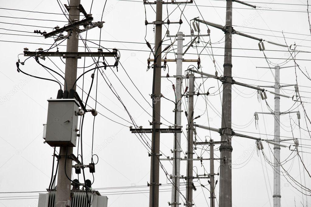 Elektriciteit Polen Stockfoto Pinkbadger 12193193