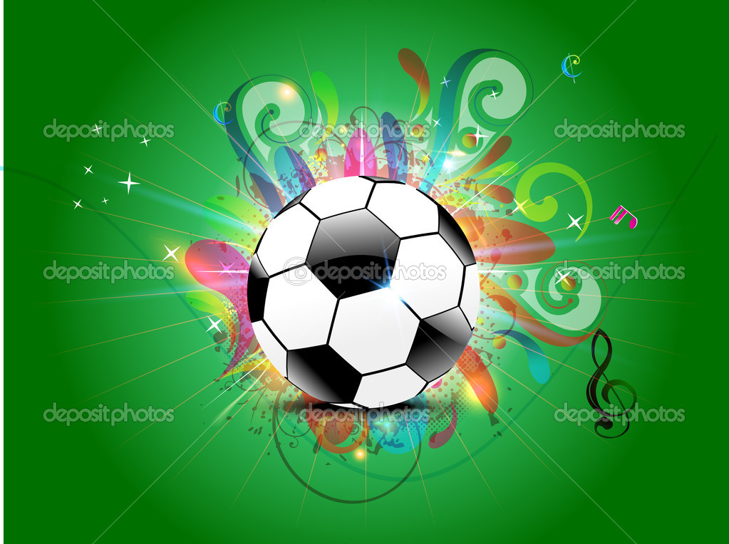Abstract Football Background With Floral Stock Vector