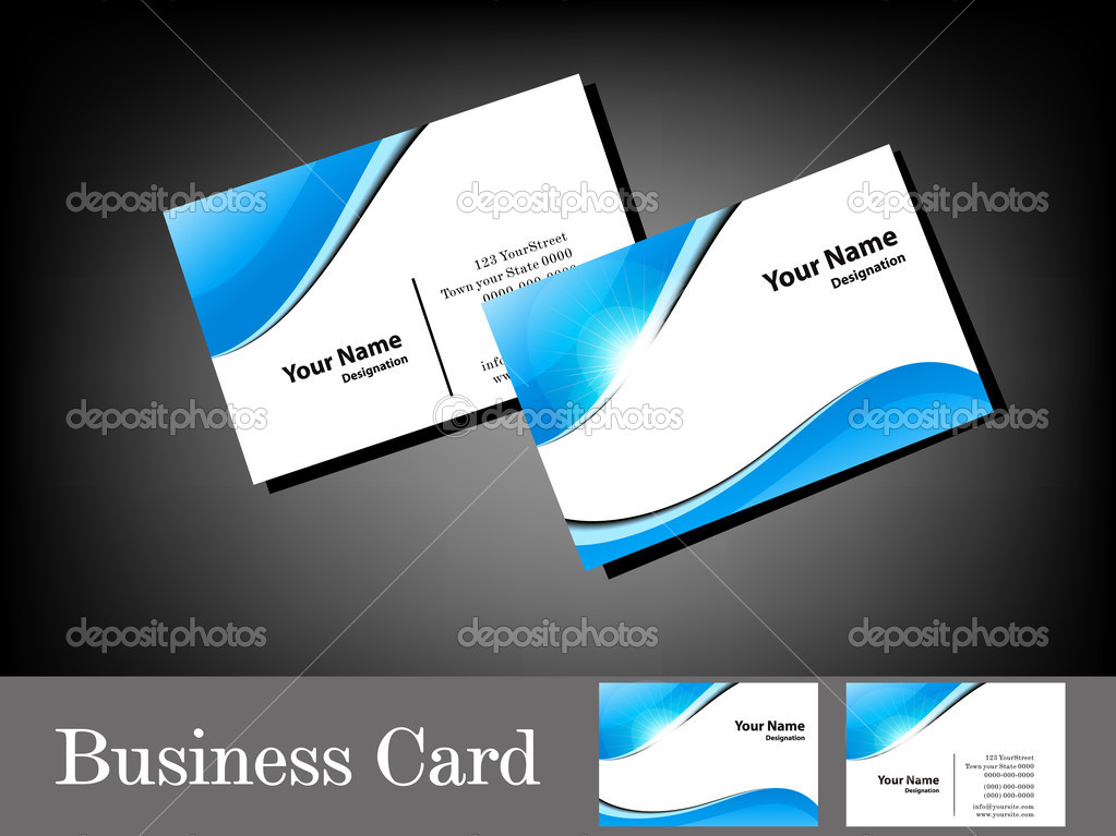 Abstract glossy blue business card stock vector gurukripa 12108671 abstract glossy blue business card vector illustration vector by gurukripa reheart Images