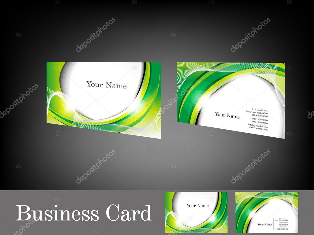 Abstract glossy green business card stock vector gurukripa 12108688 abstract glossy green business card stock vector reheart Images