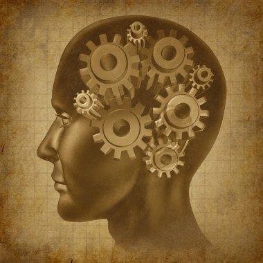Brain Function Grunge Concept
