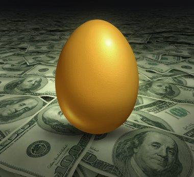 Golden retirement savings investment symbol