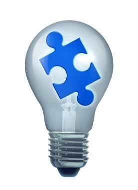 Light bulb puzzle isoalated