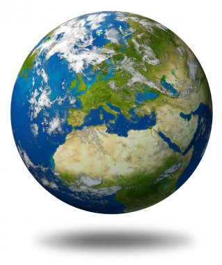 Planet Earth With Europe