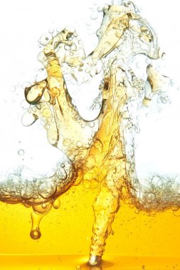 An abstract image of spilled oil in the water.