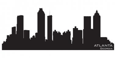 Atlanta, Georgia skyline. Detailed vector silhouette