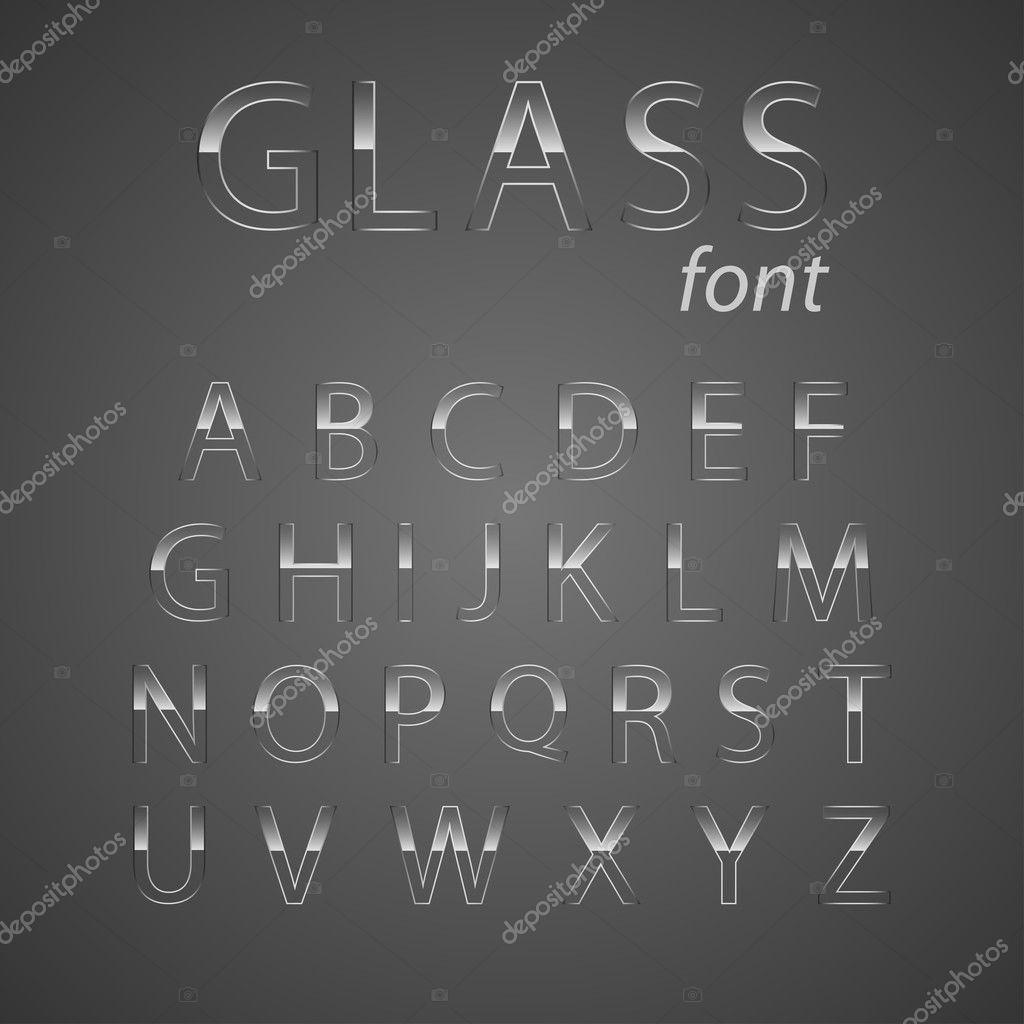 Glass alphabet.