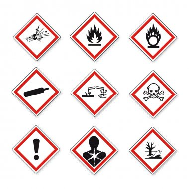 GHS warning signs set Vektor