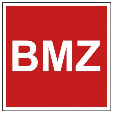Fire safety sign BMZ warning sign