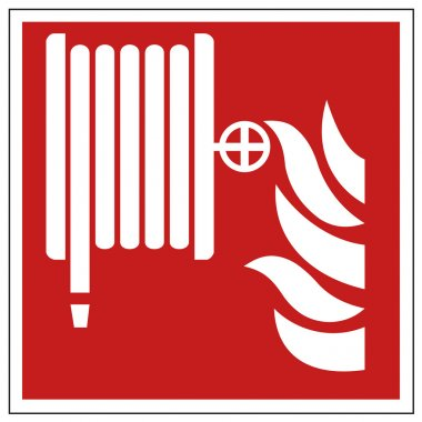 Fire safety sign fire hose warning sign