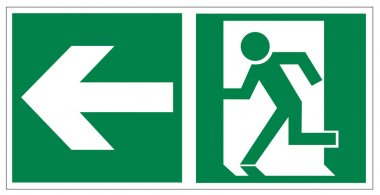 Rescue signs icon exit emergency exit arrow