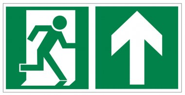 Rescue signs icon exit emergency exit arrow