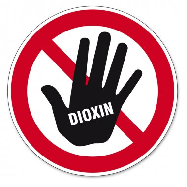 Dioxin food egg skull hand sign traffic sign