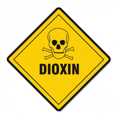 Dioxin food egg skull sign traffic sign