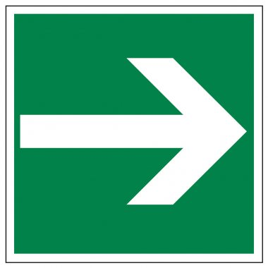 Rescue signs icon exit emergency arrow