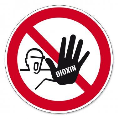 Dioxin food egg skull sign traffic sign