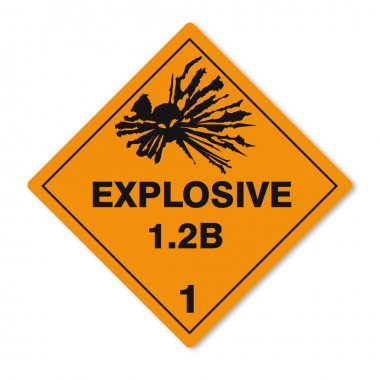 Hazardous substances signs icon flammable skull radioactive explosive