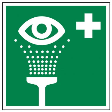 Rescue signs icon exit emergency eye shower